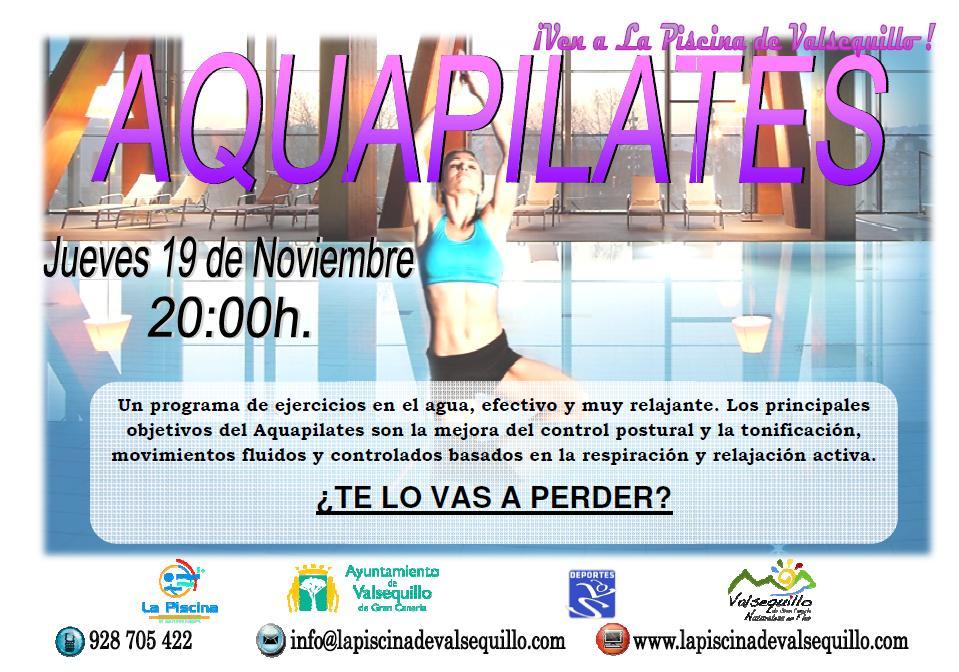 Aquapilates este mes en la piscina de valsequillo for Piscina valsequillo